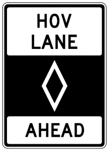 HOV Lane Ahead Clip Art Download.