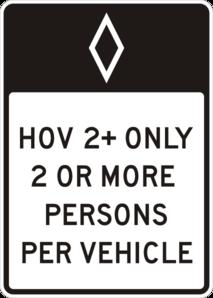 Hov Road Sign Clip Art at Clker.com.