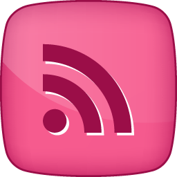 Pink RSS Hover Icon, PNG ClipArt Image.