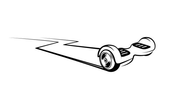 Best Hoverboard Illustrations, Royalty.