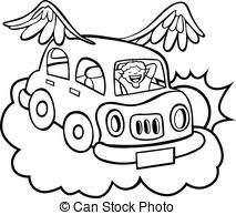Hover Car Cartoon.
