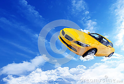 Hover Car Vector Stock Vector.