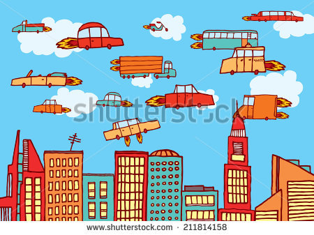 Flying Car Stock Images, Royalty.