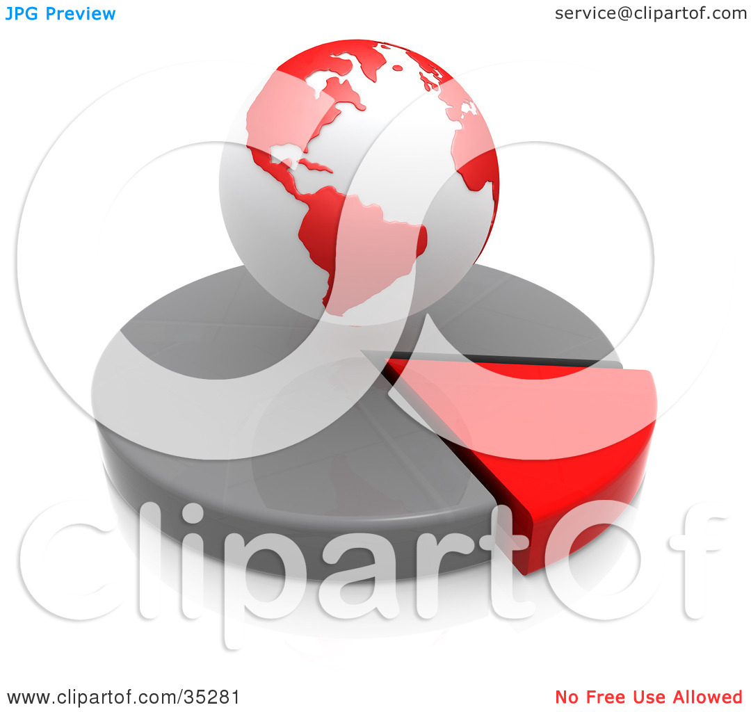 Clipart Illustration of a Red And White Hovering Over A Red And.