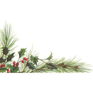 Elegant christmas bough clipart.