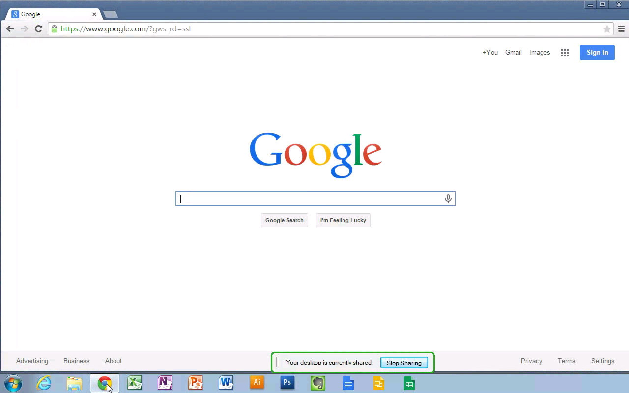 Chrome Remote Desktop.