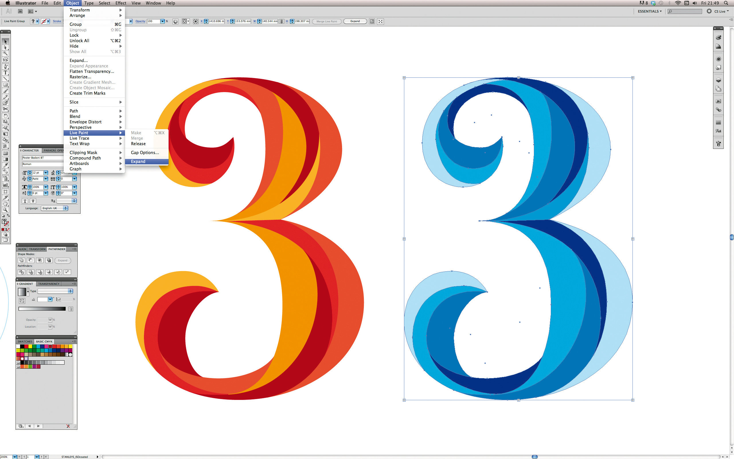Adobe Illustrator & Photoshop tutorial: Master Illustrator's Blend.