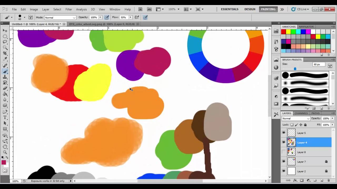 how to blend colors in Photoshop mixing colors.