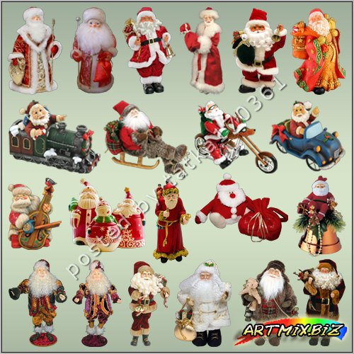 Free Clipart for Photoshop Santa Claus png for Christmas.