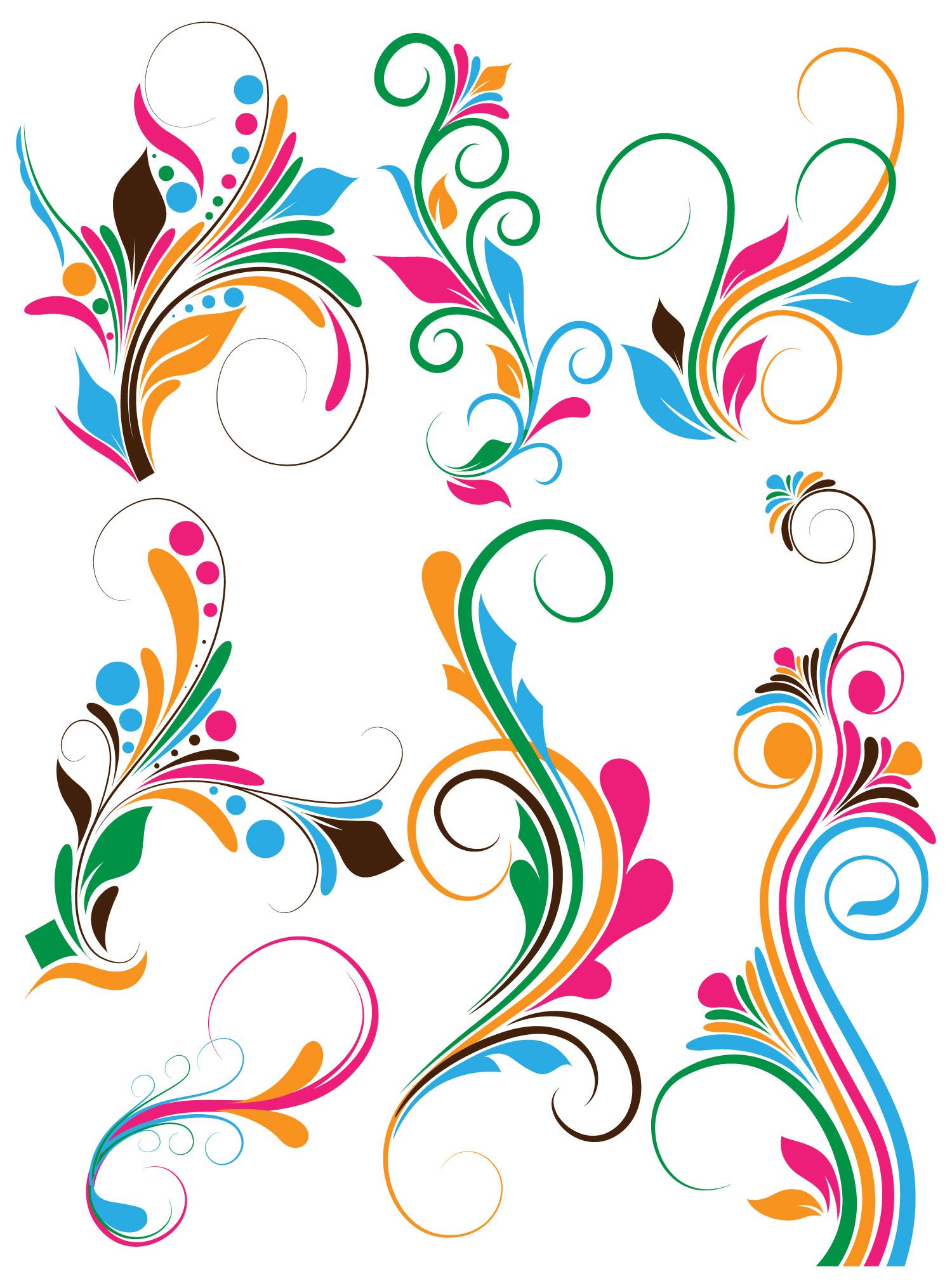 Flower Swirl Clip Art.