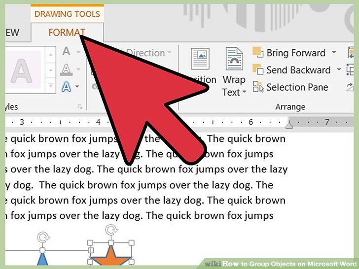 How to Group Objects on Microsoft Word: 8 Steps (with Pictures).