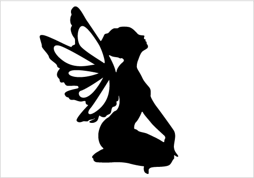 Fairy Silhouette for Fantasy Designs Silhouette Graphics.