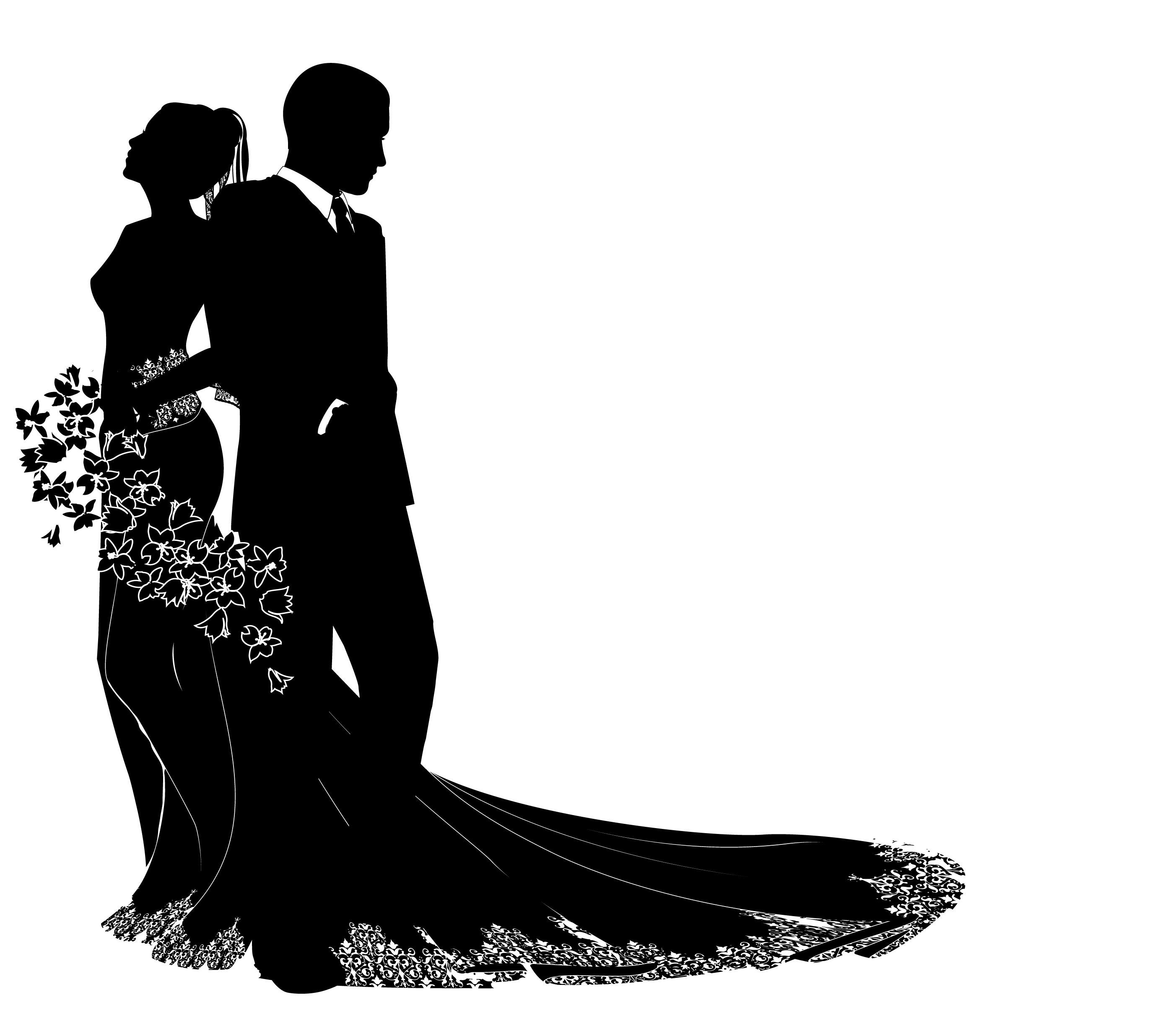 Wedding Silhouette Clip Art & Wedding Silhouette Clip Art Clip Art.