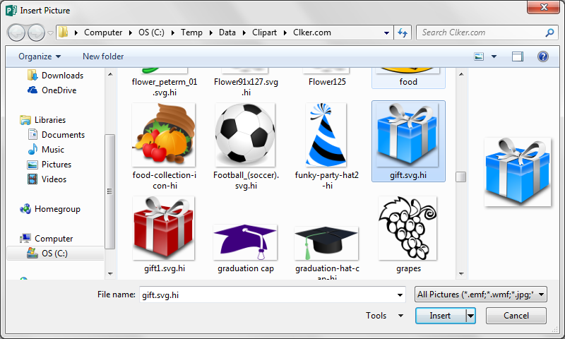 How To Find Clipart In Publisher 2013.