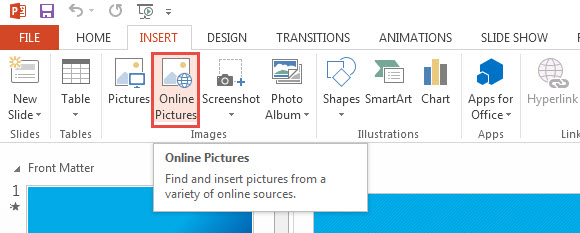 How to find clipart on powerpoint 2013 no internet.