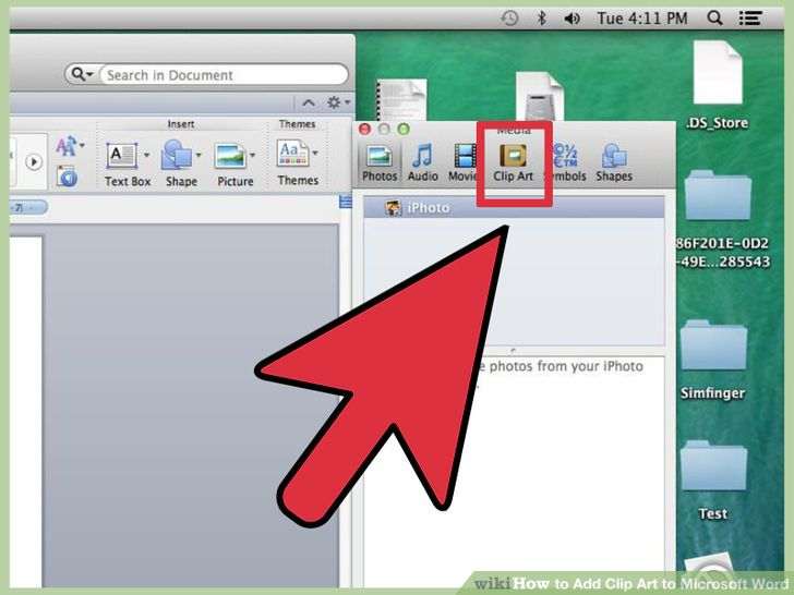How to get clipart on a mac.