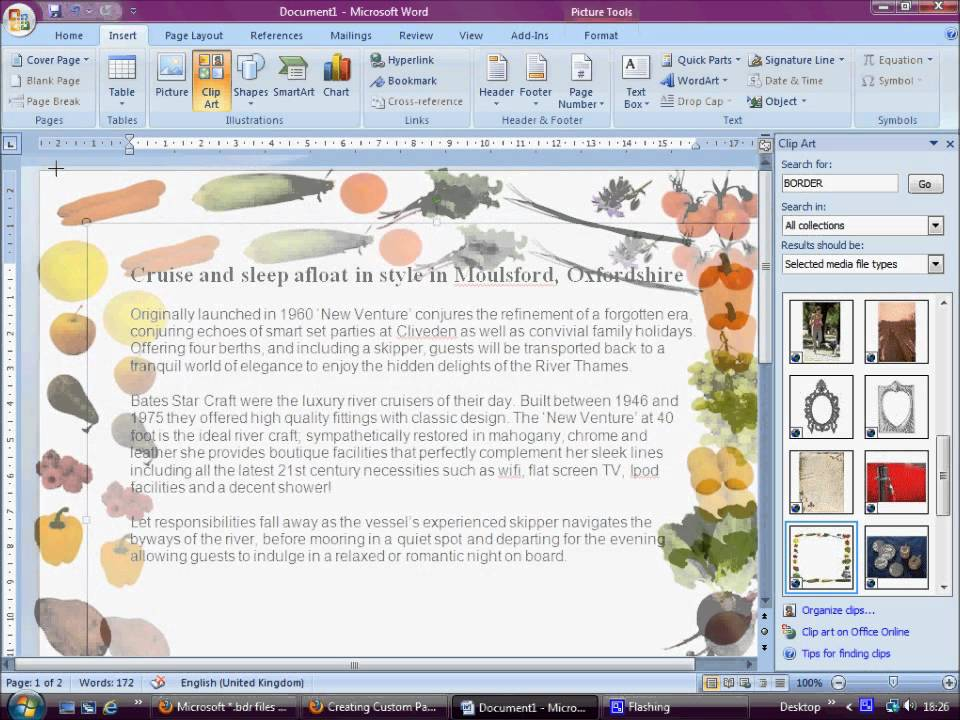 How To Insert A Clipart Border In Word 2013 Clipground