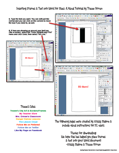 Mrs. Orman's Classroom: How to Insert Frames, Borders, or Clip Art.