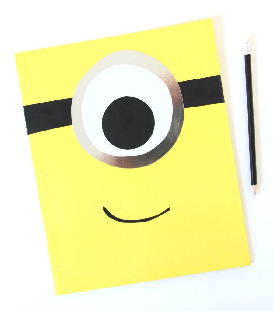 DIY: Make a Mod Minion Folder for School.