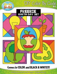 FREE} SMILEY FACES Quilt Create Your Own Color By Code Clipart Set.