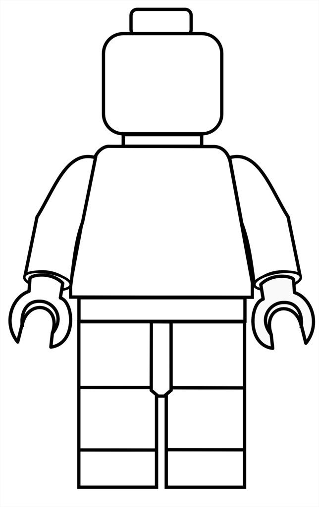 lego figure coloring.