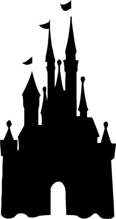 walt disney world castle clipart silhouette #3