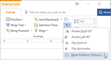 Rotate a text box, shape, WordArt, or picture.