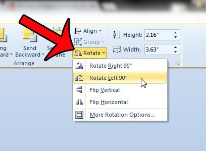 How to Rotate a Text Box in Word 2010.