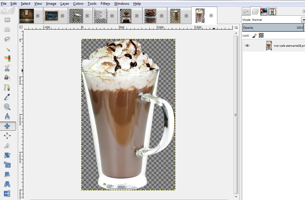 Importing Clip Art and Images to GIMP.