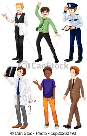 EPS Vectors of Men with different works.