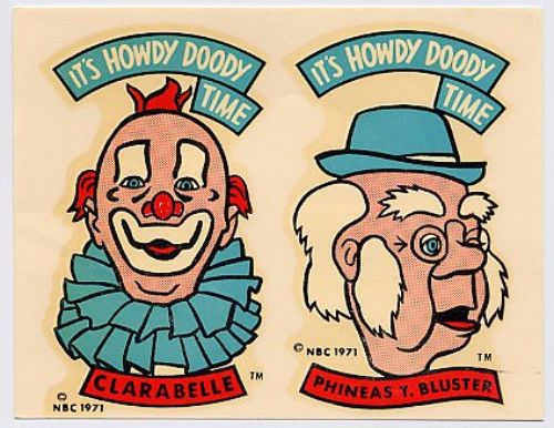 Details about VINTAGE HOWDY DOODY CLARABELLE DILLY PHINEAS.