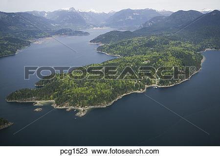 Stock Photo of Gambier Island, Howe Sound, British Columbia.