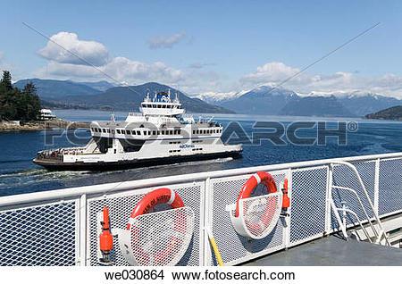 Stock Photo of Bowen Island Ferry, Horseshoe Bay, Howe Sound.