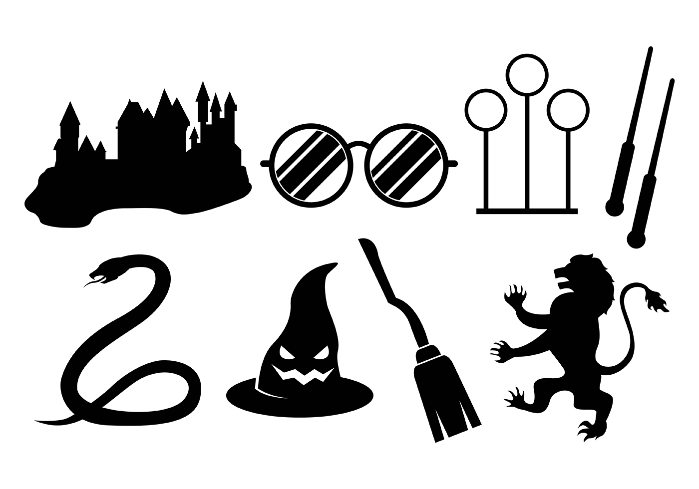 Hogwarts Free Vector Art.