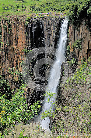 Howick Falls In The Small Town Of Howick KwaZulu.