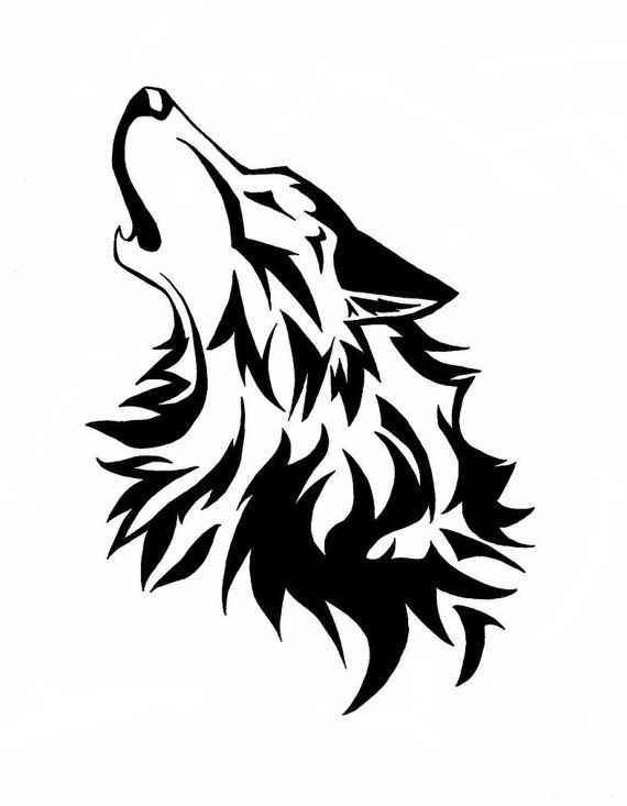 Wolf Head Clipart Black And White.