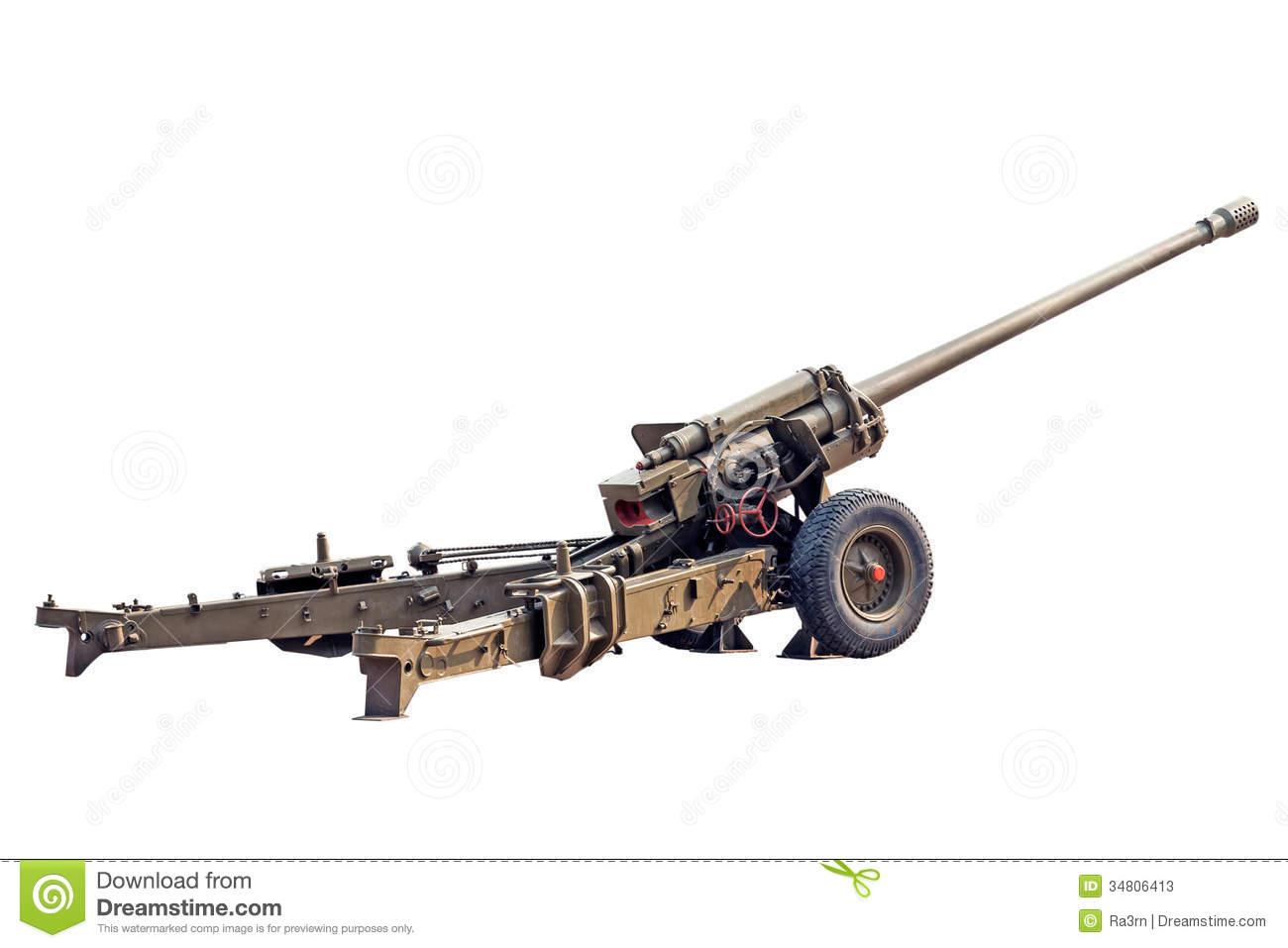 Old Howitzer Stock Photos.