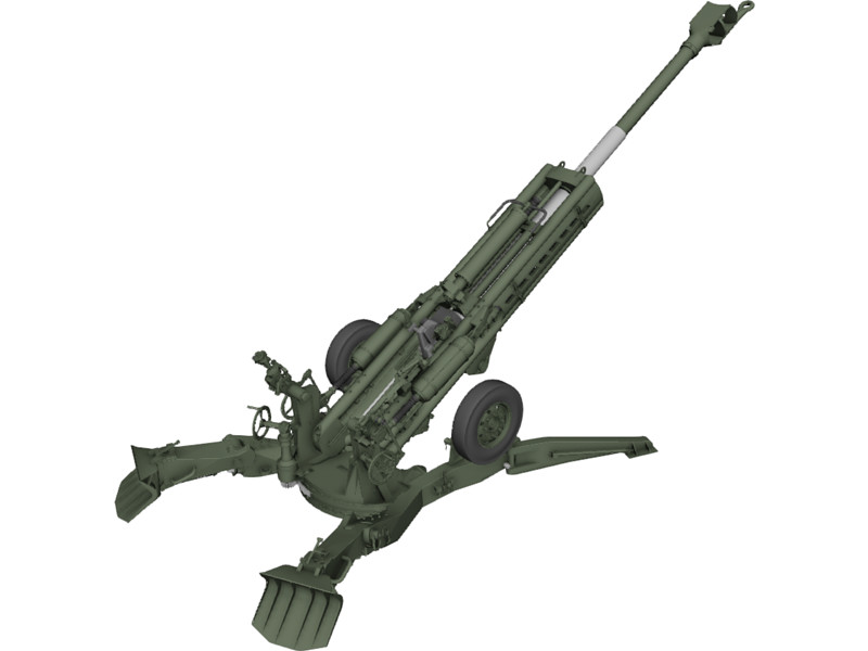 M777 howitzer clipart.