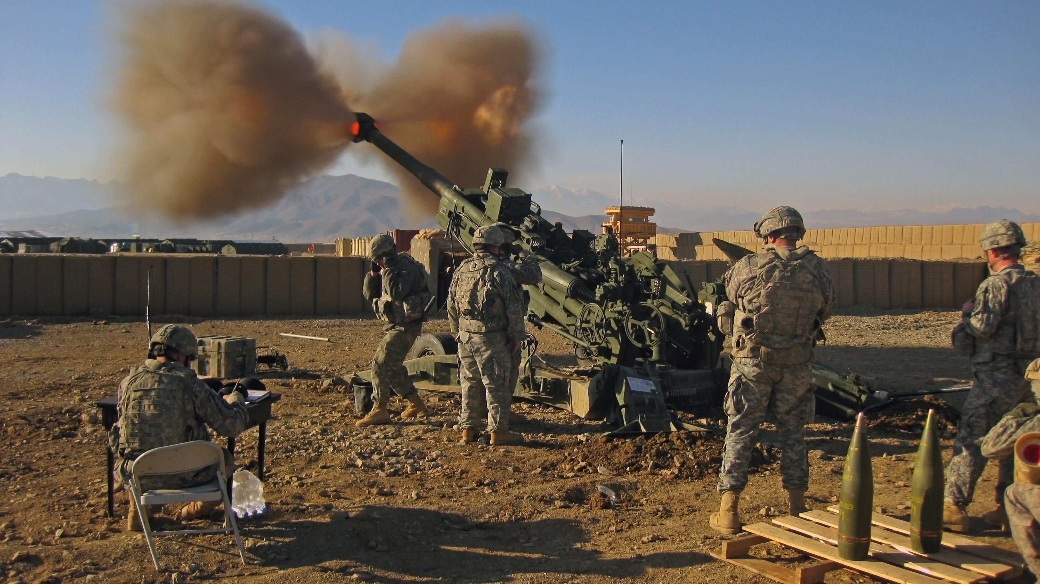 M777 howitzer.