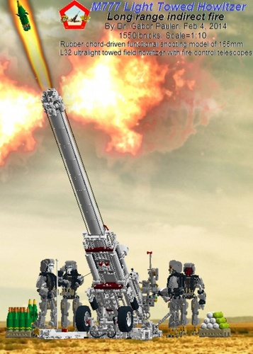 M777 Light Towed Howitzer (Working): A LEGO® creation by Gabor.