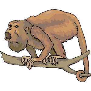 Monkey Howler clipart, cliparts of Monkey Howler free download.