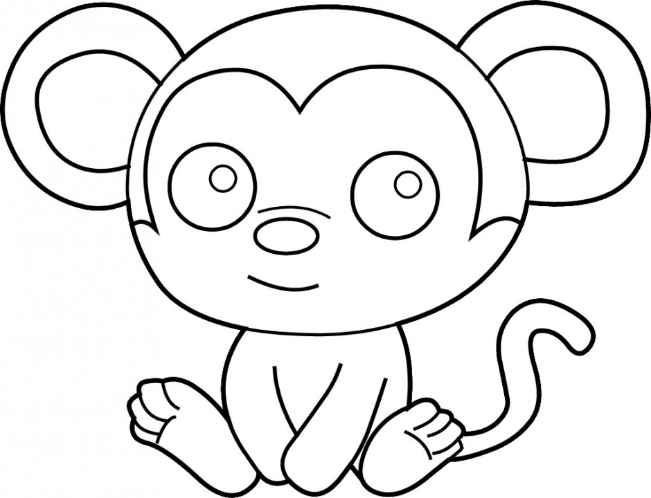 Outline Of A Monkey.