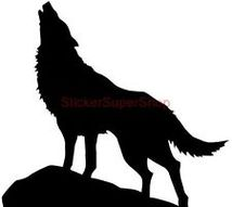 Howling Coyote Silhouette Clipart.