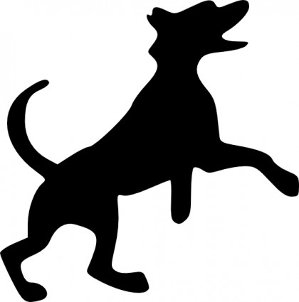 Clipart Dog Howling.