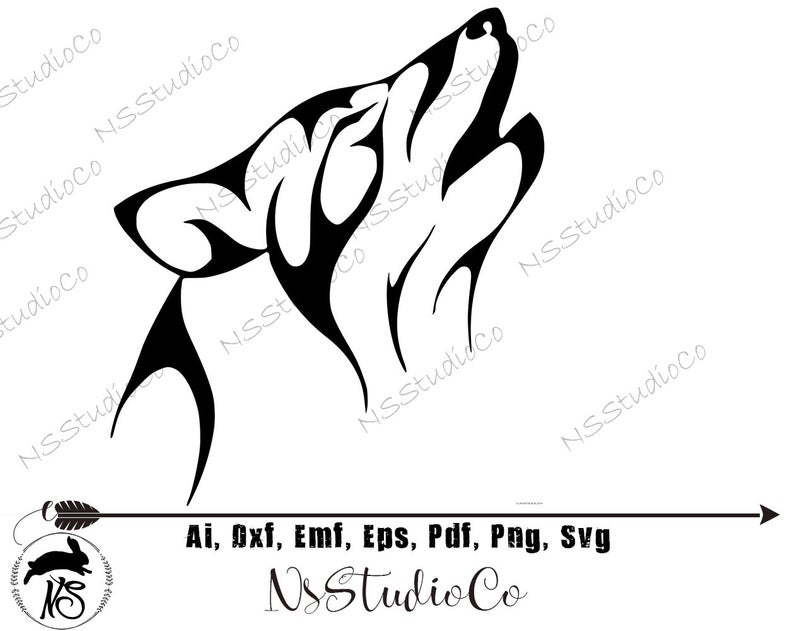 Wolf SVG Files / Wolf Clipart / Howling Wolf SVG / Wolf Silhouette / Wolf  Vector / Wolf PNG / Wolf Cut File / Files for Cricut / Silhouette.