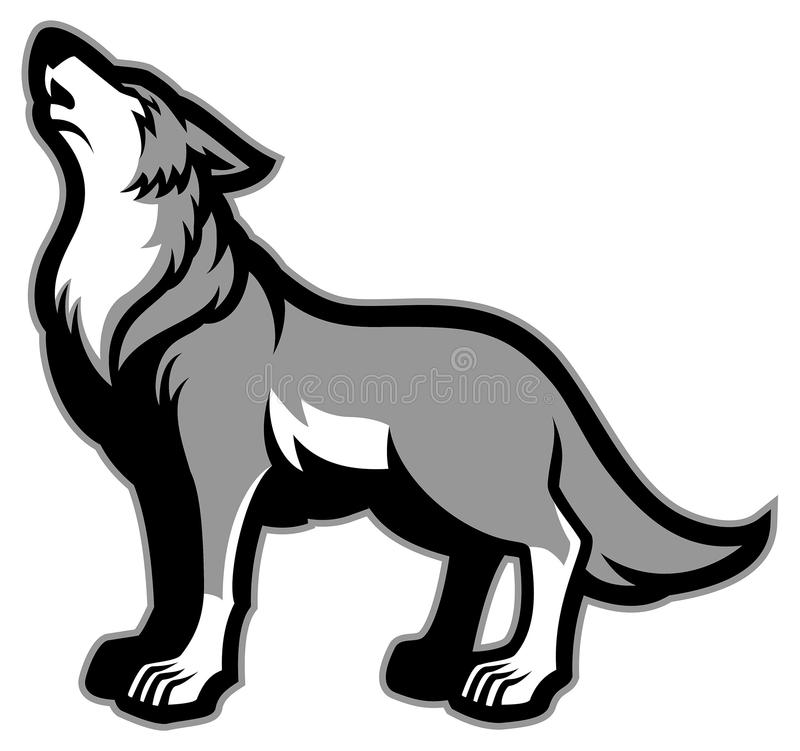 Howling Wolf Stock Illustrations.