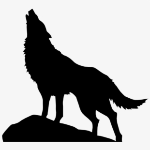 Vector Outline Wolf.