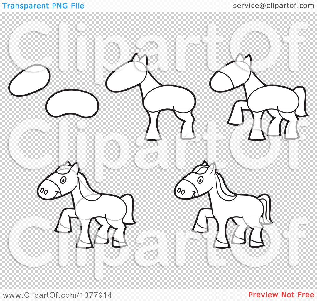 How To Draw A Horse Sketch.