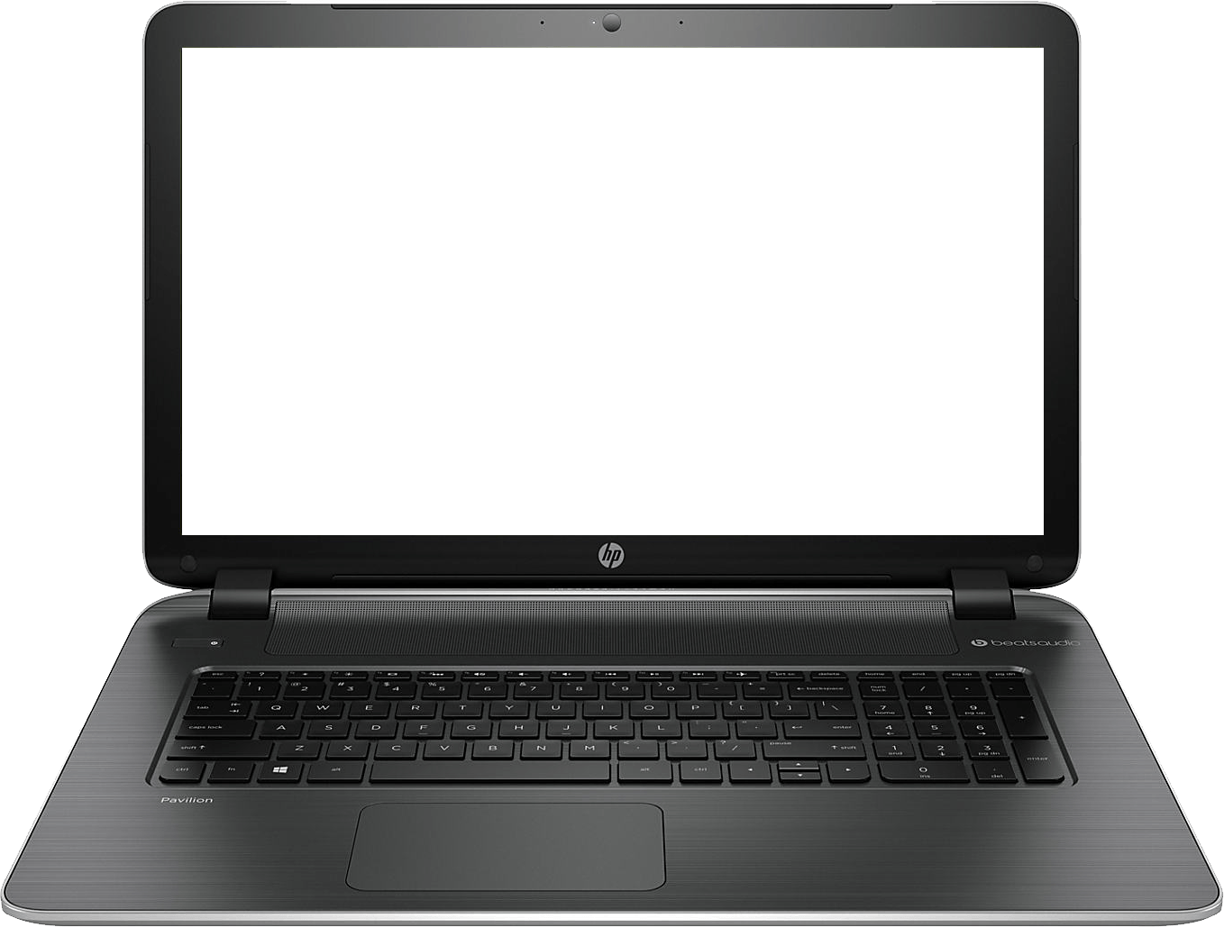 Thin Hp Laptop transparent PNG.