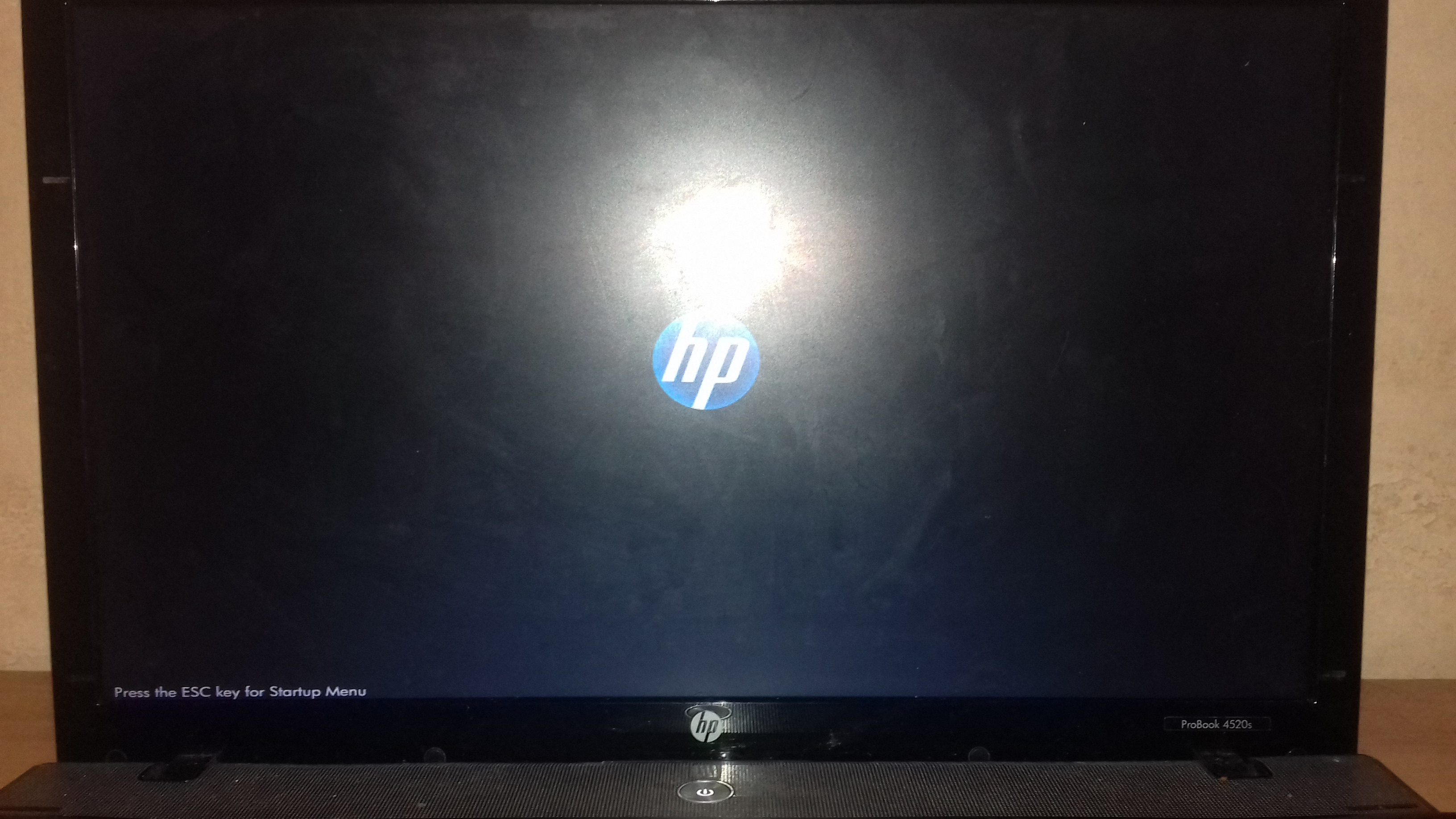 Laptop stuck at hp logo window.